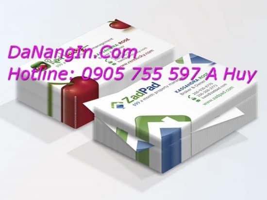 Báo giá in card visit tại đà nẵng cho công ty doanh nghiệp