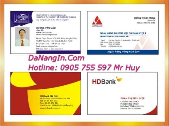 In card visit Danh Thiếp Tại Đà Nẵng Giá Rẻ 0905 755 597 A Huy