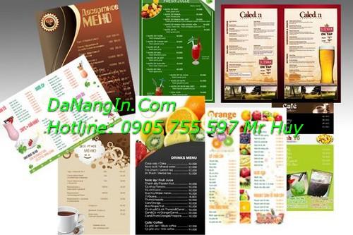 In menu cafe nhà hàng resort quảng cáo tại đà nẵng LH 0905 755 597 Mr Huy