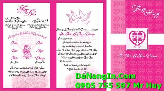 Thiệp cưới tại đà nẵng lấy gấp nhanh giá rẻ in đẹp