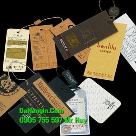 in thẻ bài nhãn mác quần áo tại đà nẵng lấy gấp rẻ
