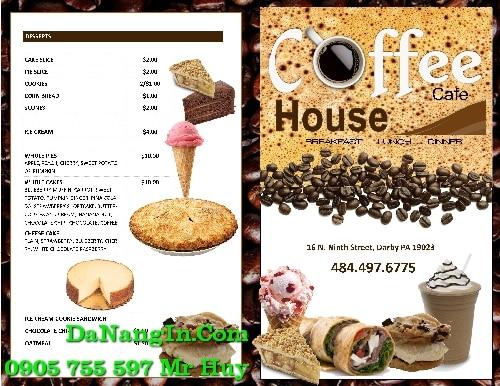 làm menu cafe trà sữa quán nhậu nhà hàng tại quận liên chiểu 0905 755 597 Mr Huy